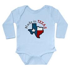 Made In Texas Long Sleeve Infant Bodysuit