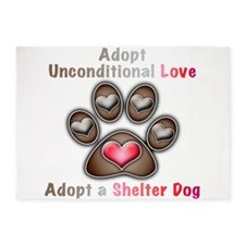 adopt unconditional love 5'x7'Area Rug