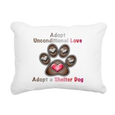adopt unconditional love Rectangular Canvas Pillow