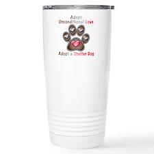 adopt unconditional love Travel Mug