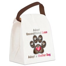 adopt unconditional love Canvas Lunch Bag