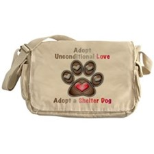 adopt unconditional love Messenger Bag