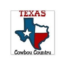 """Cowboy Country Square Sticker 3"""" x 3"""""""