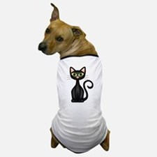 Black Cat Dog T-Shirt