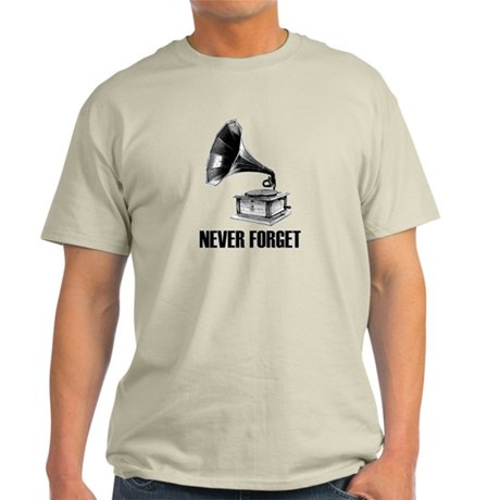 Never Forget Gramophone Light T-Shirt