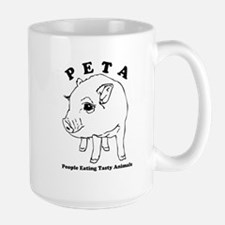 Peta-People Eating Tasty Animals Large Mug