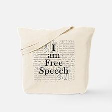 I am Free Speech Tote Bag