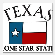 "Lone Star State Square Car Magnet 3"" x 3"""