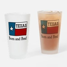 Born And Bred Drinking Glass