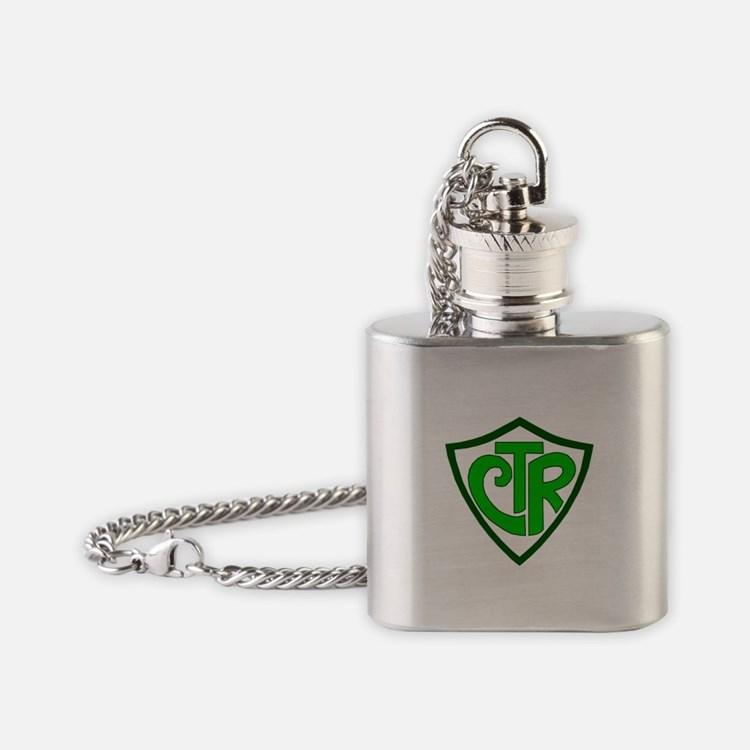 "CTR ""Choose the Right"" Flask Necklace"