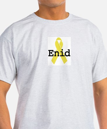 Yellow Ribbon: Enid Ash Grey T-Shirt
