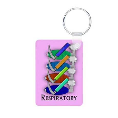 Respiratory Therapy Aluminum Photo Keychain
