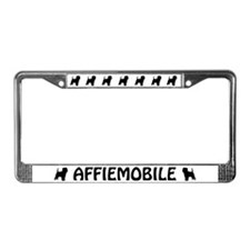 Affiemobile (Affenpinscher) License Plate Frame