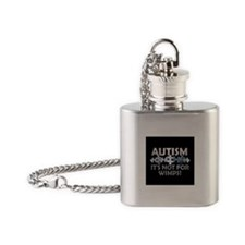 Autism: Not For Wimps! Flask Necklace
