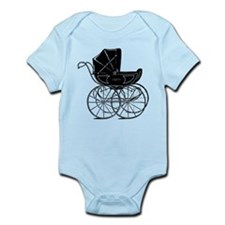 Vintage Baby Carriage Infant Bodysuit