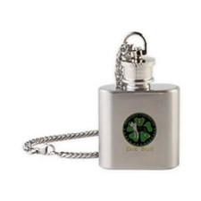 Always faithful Pit Bull Flask Necklace