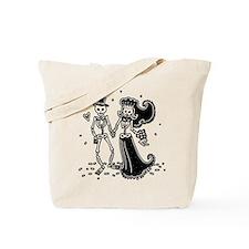 Skeleton Bride And Groom Tote Bag