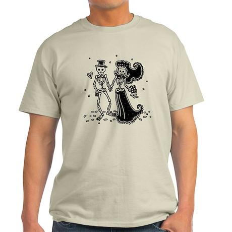 Skeleton Bride And Groom Light T-Shirt