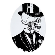 Skull Groom Ornament (Oval)