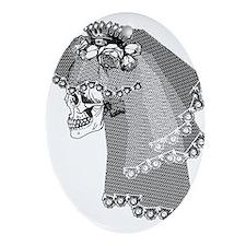 Skull Bride Ornament (Oval)