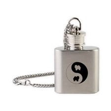 Yin Yang Chow Chow Flask Necklace