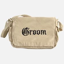 Gothic Text Groom Messenger Bag