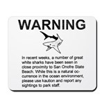 San Onofre Great White Shark Mousepad