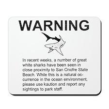San Onofre Great White Shark Mousepad