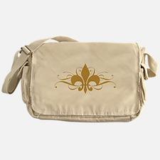 Light Fleur De Lis Messenger Bag