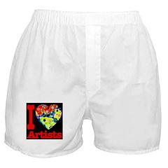 I Love Artists Boxer Shorts