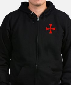 Templar Red Cross Zip Hoodie
