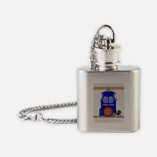 Personalized Basketball Jerse Flask Necklace