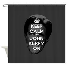 Keep Calm and John Kerry On Shower Curtain