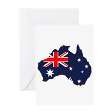 Australia Flag Map Greeting Card
