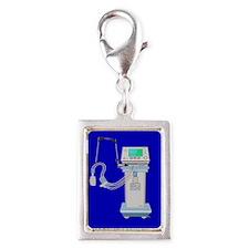 Respiratory Therapy Silver Portrait Charm