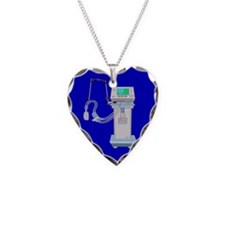 Respiratory Therapy Necklace Heart Charm