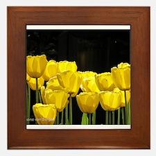 Yellow Tulips Framed Tile