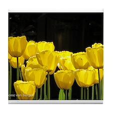 Yellow Tulips Tile Coaster