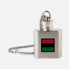 Red Black Green - Buttons Flask Necklace