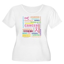 Breast Cancer Awareness Collage T-Shirt
