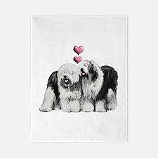 Ole English Sheepdog Pair Twin Duvet