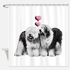 Ole English Sheepdog Pair Shower Curtain