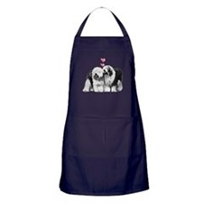 Ole English Sheepdog Pair Apron (dark)