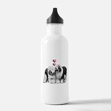 Ole English Sheepdog Pair Water Bottle