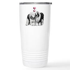Ole English Sheepdog Pair Travel Mug