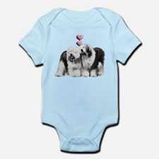 Ole English Sheepdog Pair Infant Bodysuit
