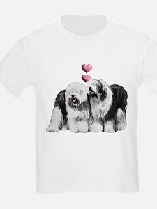 Ole English Sheepdog Pair T-Shirt
