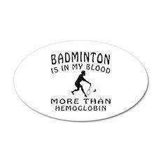 Badminton Designs Wall Decal