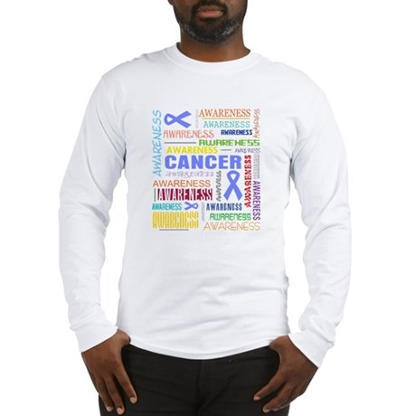 Esophageal Cancer Awareness Collage Long Sleeve T-