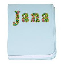 Jana Floral baby blanket